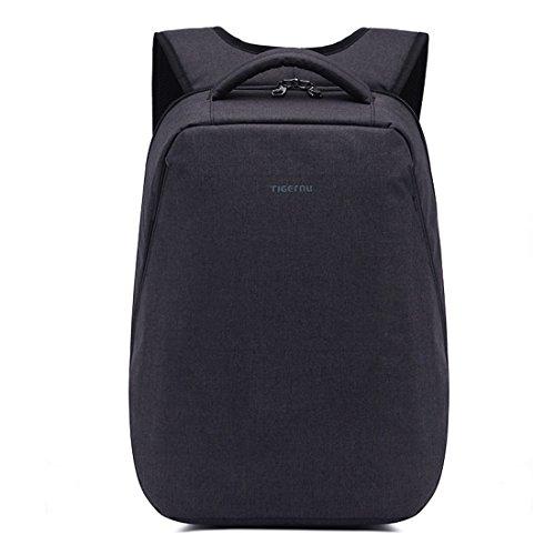 yacn Slim impermeable–Mochila para portátil y notebook & Mochila de viaje Senderismo bag-fit hasta 14.1inch Tablet, color negro