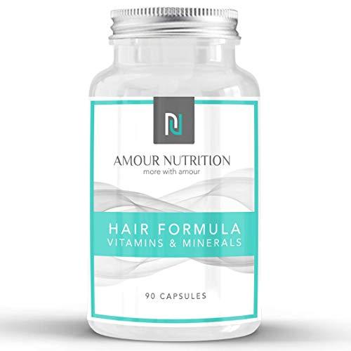 Hair Formula Vitamins & Minerals, 12 Ingredient Formulation, Hair Supplement For Men and Women, Vegetarian Friendly, 90 Day Supply