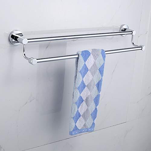 Nannday Bad Handtuchhalter, 50 cm Toilette Edelstahl Wand Handtuchhalter Aufbewahrungshalter Regal für Home Kitchen Hotel Toilette(50cm)