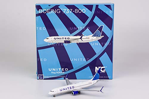 "NG Models 1:400 United Airlines 737-800 ""Evo Blue N26208 58073"