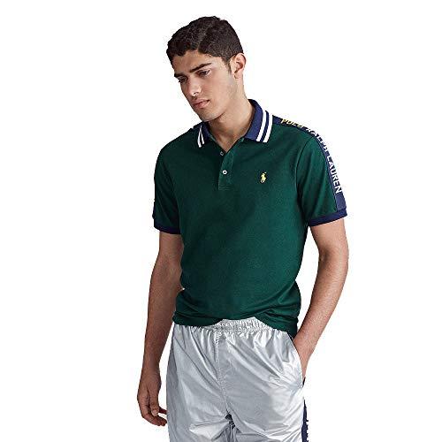 Polo Ralph Lauren Custom Slim Fit Mesh Polo (XL, College Green)