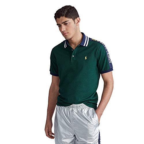 Polo Ralph Lauren Custom Slim Fit Mesh Polo (XL, College Green)