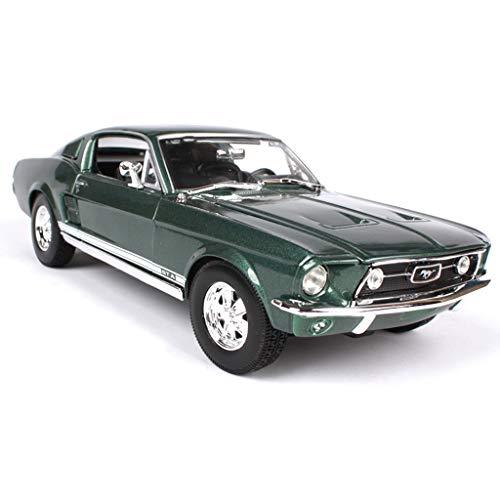 GYZS-TOY 01:18 modèle de Voiture/Compatible avec Ford Mustang GTA/Voiture Modèle Décoration Simulation en Alliage modèle de Voiture Cadeau (Color : Green)