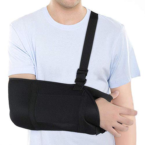 DOACT Arm Sling Shoulder Rotator Cuff, Adjustable Shoulder Sling Support Immobilizer For for Injury Support, Shoulder Surgery, Fractured Bones, Dislocation,Sprain, Strain, Left Right Arm Elbow Support