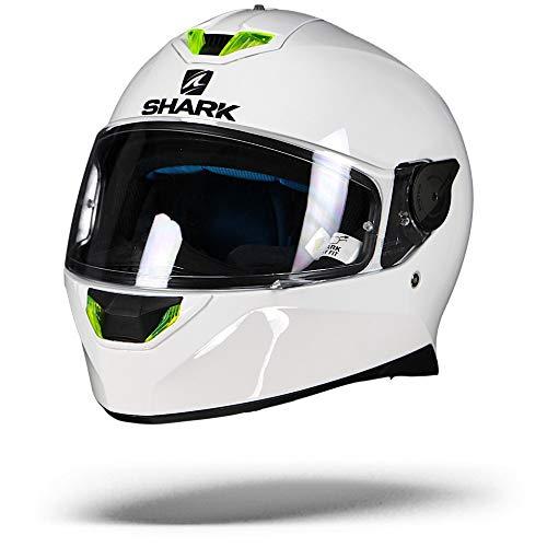 Shark 2661_26755, Caschi Moto SKWAL 2 Blank Whu-XS Uomo, Bianco