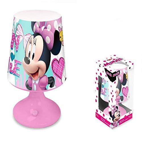 Lámpara de noche de Disney Minnie Mouse luz LED de mesa infantil...