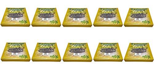DUE ESSE DISTRIBUZIONI S.R.L. 100 Spirali Profumate da Esterno, Antizanzare, con 10 Porta zampironi in Metallo, (10 Confezioni da 10)…