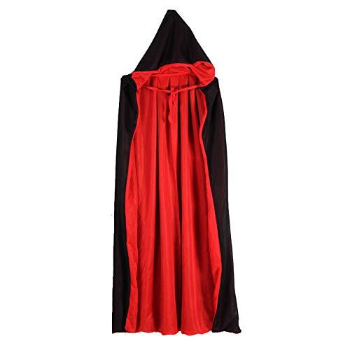 KOUQI Capa De Muerte Adulta, Sangre Negra Roja Chupando Camuflaje De Fantasmas, Bata Chamn, Maquillaje, Disfraz, Accesorios, Trajes, Trajes. Cdigo Uniforme Bodega Doble 140cm