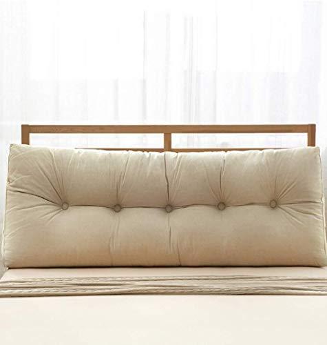 Auto lumbale kussen Katoen Bed Kussens tweepersoonsbed rugleuning Pillow Bedside Headboard Cushion grote kussen (Size : 60x20x50cm)