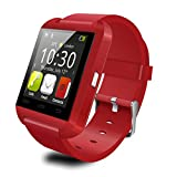 CastleTec Smart Watch RED U8 Bluetooth 4.0 Smart Watch Phone Made for Android iOS Samsung iPhone LG
