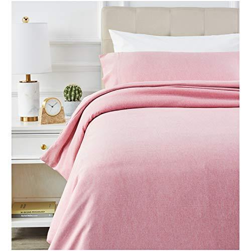Amazon Basics - Juego de ropa de cama con funda de edredón, de microfibra, 135 x 200 cm, Rojizo (Sandy Red)