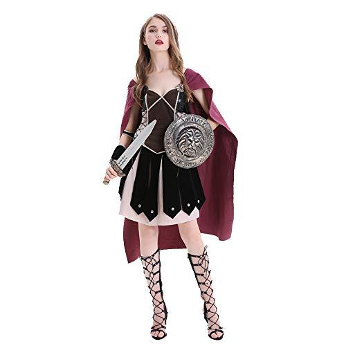 OLKWG Disfraz De Guerrero Conquistador Disfraz De Soldado Romano De Halloween Disfraz De Guerrero Romano Adulto,M