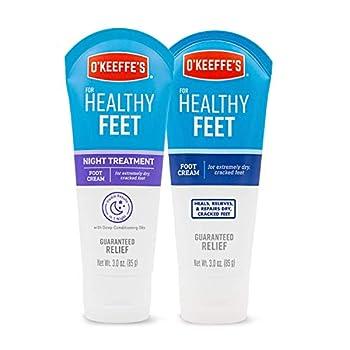 O Keeffe s for Healthy Feet Foot Cream 3oz Tube and Night Treatment Foot Cream 3oz Tube