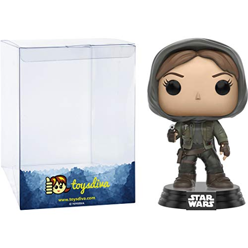 Jyn Erso (Hot Topic Exc): Funko Pop! Vinyl Figure Bundle with 1 Compatible