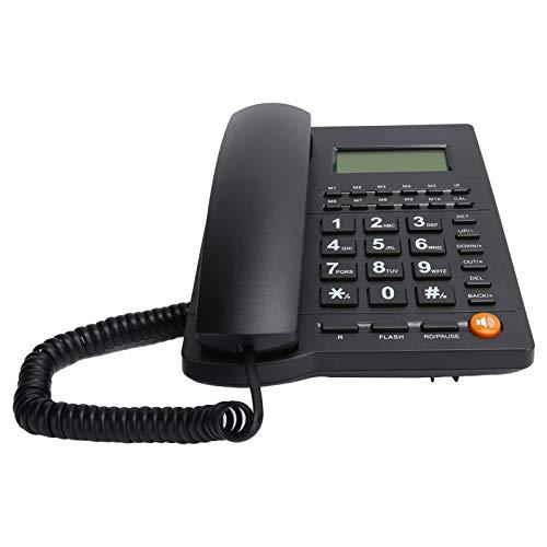 Goshyda Teléfono Fijo de Escritorio, teléfono con Cable, teléfono con identificador de Llamadas, con botón Grande, para Hotel de Oficina Familiar