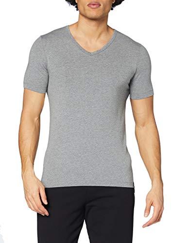 Schiesser Herren Shirt 1/2 Arm Unterhemd, grau-Melange (202), 8