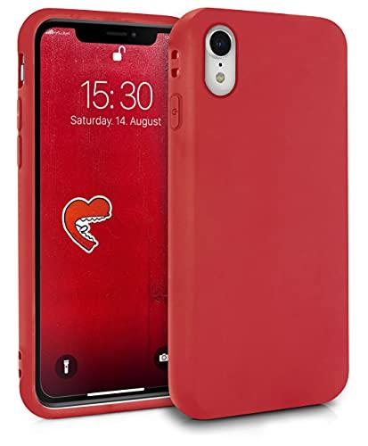 MyGadget Funda para Apple iPhone XR en Silicona TPU - Carcasa Slim & Flexible - Case Resistente Antigolpes y Antichoques - Ultra Protectora - Color Rojo