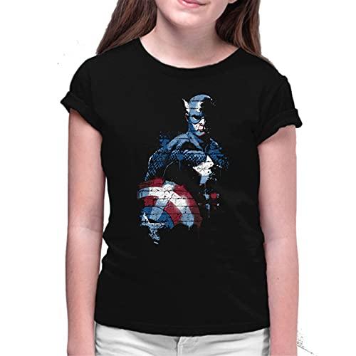 Camiseta de NIÑAS Capitan America Vengadores Ironman Hulk Thor 002 3-4 Años