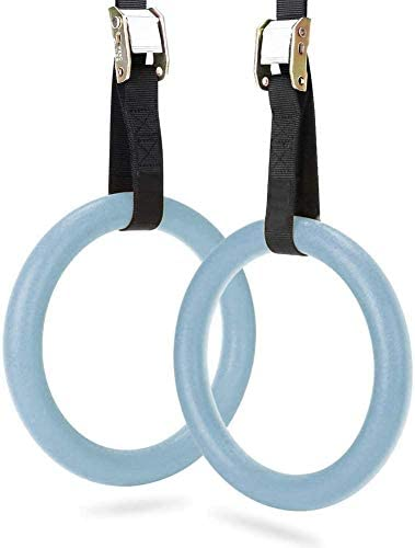 ZIBY Gymnastic Rings Rings with Adjustable Straps Set of 2 Metal Buckles Non Slip Great for product image