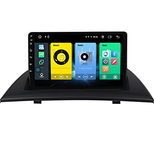 Navegación por satélite estéreo para automóvil Adecuado para BMW X3 E83 2004-2012 Unidad principal estéreo GPS Pantalla táctil capacitiva HD Carplay Radio Multimedia Sistema de radio incorporado Rast