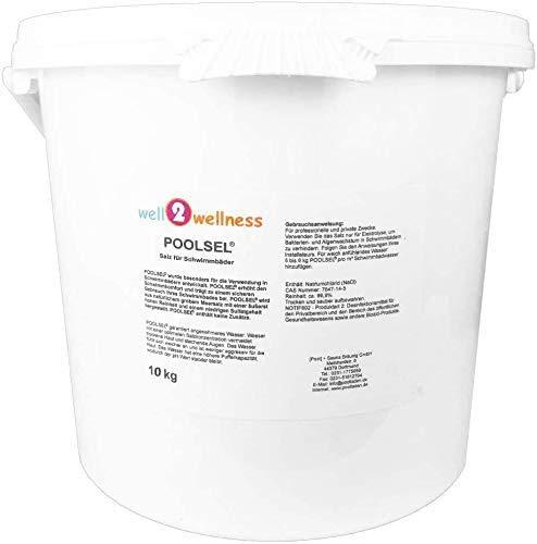 well2wellness® Poolsalz Poolsel für Salzelektrolyse - Salz für Schwimmbäder 10 kg