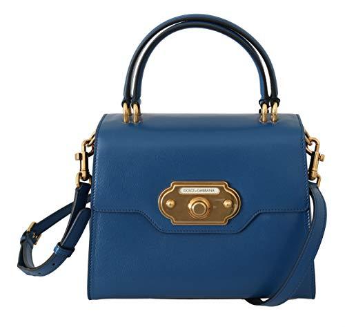 Dolce & GabbanaBlue Leather Crossbody Purse Women Welcome Bag