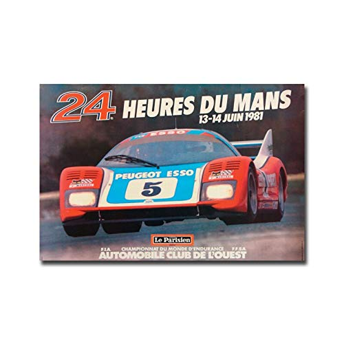 MHHDD Impresión de Lienzo Cartel nórdico Cuadro de Arte de Pared Endurance Racing 30x45cmNoFrame ZY10184