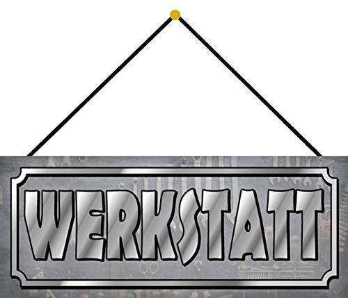FS Werkplaats ambachtslieden auto gereedschap blikken schild gewelfd Metal Sign 20 x 30 cm met koord