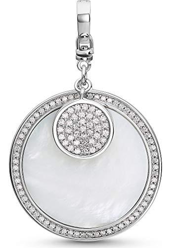 JETTE Silver Damen-Charm Lucky Charm 925er Silber Zirkonia One Size Silber 32010641