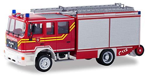 herpa 094740 Man M2000 Feuerwehr Dachau, Fahrzeug in Mini zum Basteln und Sammeln, Mehrfarbig
