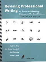 Revising Professional Writing in Science and Technology, Business, and the Social Sciences