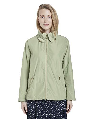 TOM TAILOR Damen Jacken Frühlingsjacke mit Abnehmbarer Kapuze Light moor Green,XS,21651,7000