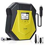Air Compressor Tire Inflator, DC 12V Portable Car Air Pump with LED Flashlight