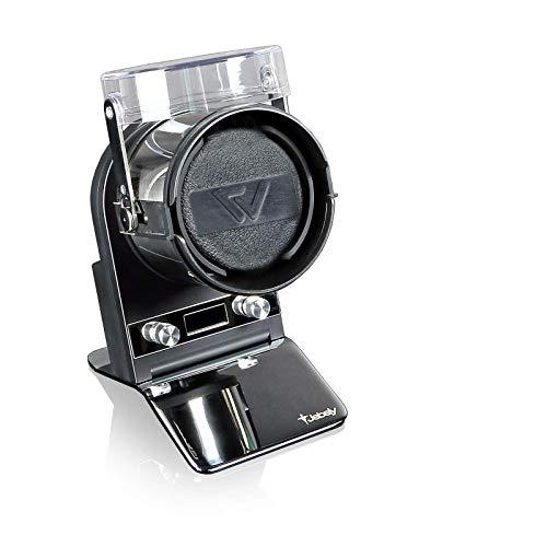 Watchwell® Uhrenbeweger Nobel, Schwarz/Chrom, LCD Display, Batterie oder Netzbetrieb, für 1 Automatikuhr
