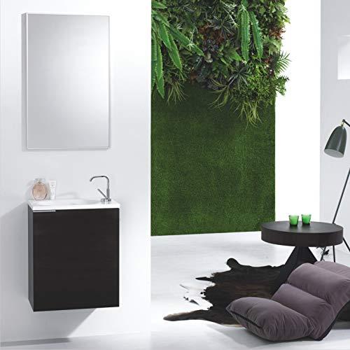 Wunderbad Miami - Mueble de baño para Invitados, Color Blanco o wengué