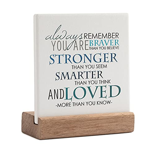 Lukiejac Inspirational Quotes Desk Decor Gifts For Women Best Friend...
