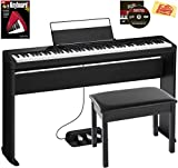 Casio Privia PX-S3000 88-Key Digital Piano - Black Bundle with CS-68 Stand, SP-34 Three Pedal System, Furniture-Style Bench, Instructional Book, Online Lessons, Instructional DVD, and Polishing Cloth