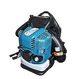 GSAGJcfj Soplador de Hojas inalámbrico de Alto Rendimiento Mochila soplador de Nieve de 4 Tiempos del Motor de Gas ergonómico Herramienta for el jardín defoliación de Limpieza al Aire Libre, Azul