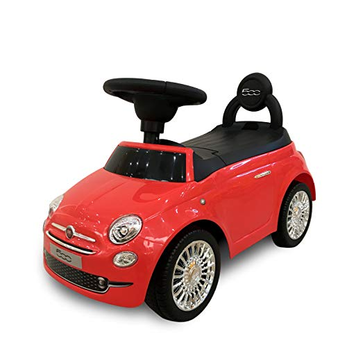 Best Ride On Cars Fiat 500 Push Car S, Red