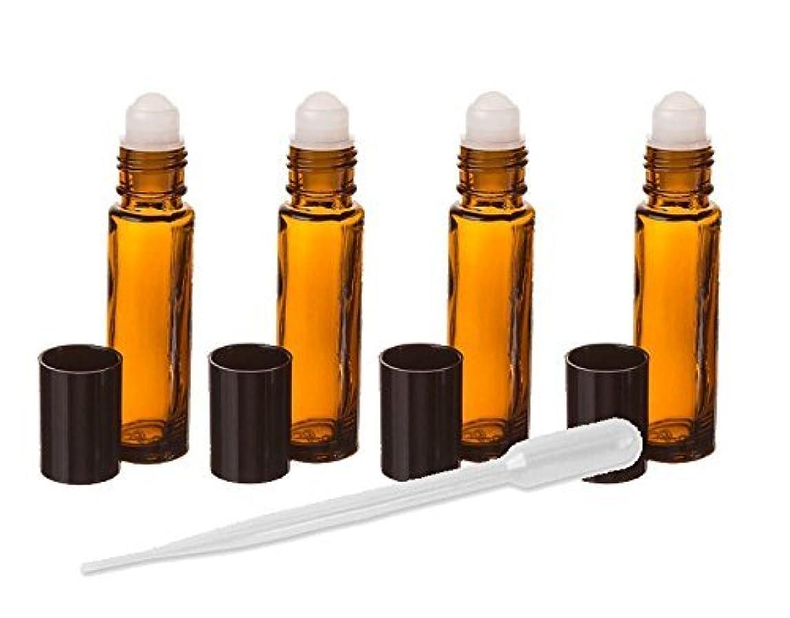 崩壊襲撃球体Amber Glass Essential Oil Rollerball Bottles, 8ml Aromatherapy Glass Roll on Bottles - Set of 6 (Amber) by Grand Parfums 6 Pack Roller Ball Glass Bottles [並行輸入品]