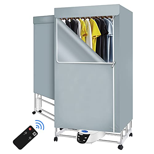 Innotic Clothes Dryer 1500W Portable Clothes Drying Rack 3 Tier Foldable Electric Clothes Dryer Anion Energy Saving Quick Dry Indoor Heated Clothes Airer with Remote Control