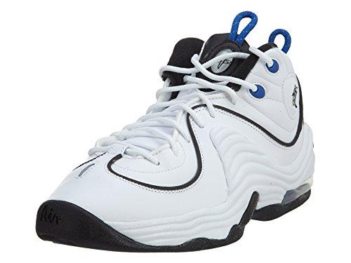 Nike Kids Air Penny II (GS) White/Black Varsity Royal Blck Basketball...