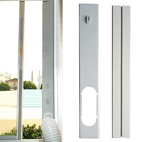 Magent - Placa de sellado universal para ventana, kit de sellado de ventana para aire acondicionado portátil, fácil de instalar, longitud ajustable