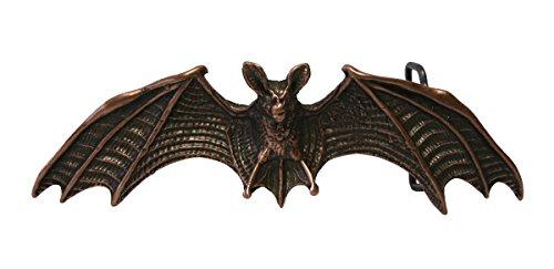 Dark Dreams Mittelalter Gothic schwarzer Gürtel Ledergürtel mit Gürtelschnalle Fledermaus altkupfer, Länge:80 - 2