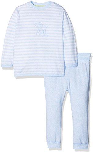 Sanetta Sanetta Baby-Jungen 221385 Zweiteiliger Schlafanzug, Blau (Bleu Melange 50240), 74