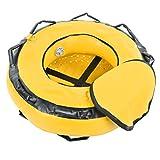 Crisist Boya de apnea, Flotador de señalización boya Flotante de Seguridad, para Buceo, señalización, Deportes acuáticos(Amarillo)