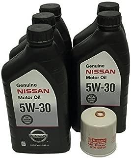 Genuine Nissan 5W-30 Oil Change Kit 5 Quarts 15208-65F0E
