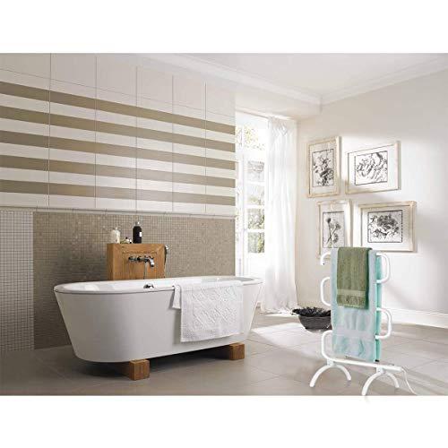 "Tangkula Towel Warmer, Home Bathroom 100W Electric 5-Bar Towel Drying Rack, Freestanding and Wall Mounted Design Towel Hanger, Towel Heater, White (23""L x 13""W x 36""H)"