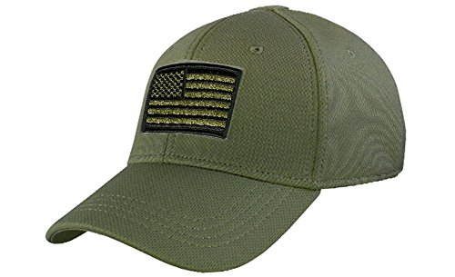 Condor Fitted Tactical Cap Bundle (USA/DTOM Patches) - OD S/M
