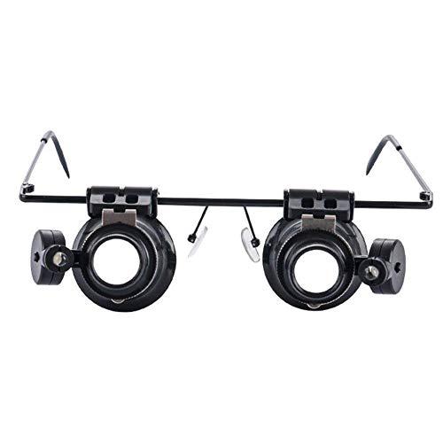 Lente d'ingrandimento 20X Occhiali da Vista binoculari Lente d'ingrandimento con LED